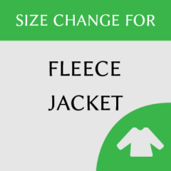 Fleece jacket size change