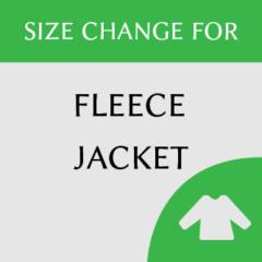 Fleece jacket size change