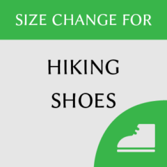 Hiking shoes size change