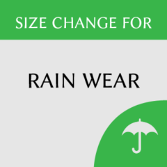 Rain wear size change