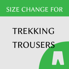 Trekking trousers size change