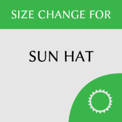 Sun hat size change